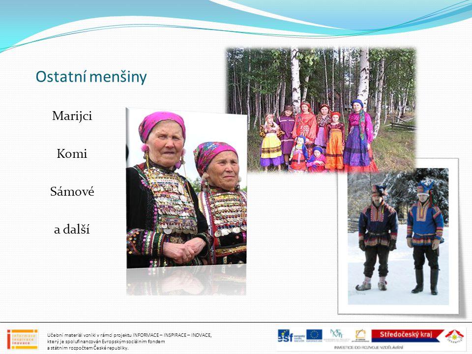 Ostatní menšiny Marijci Komi Sámové a další