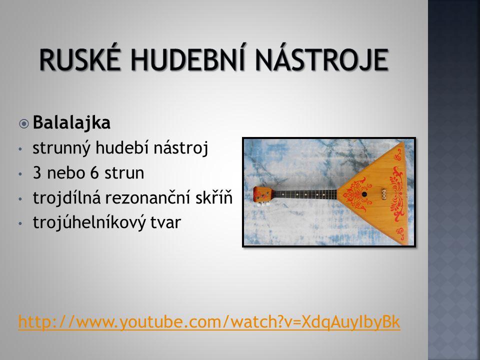 Ruské hudební nástroje