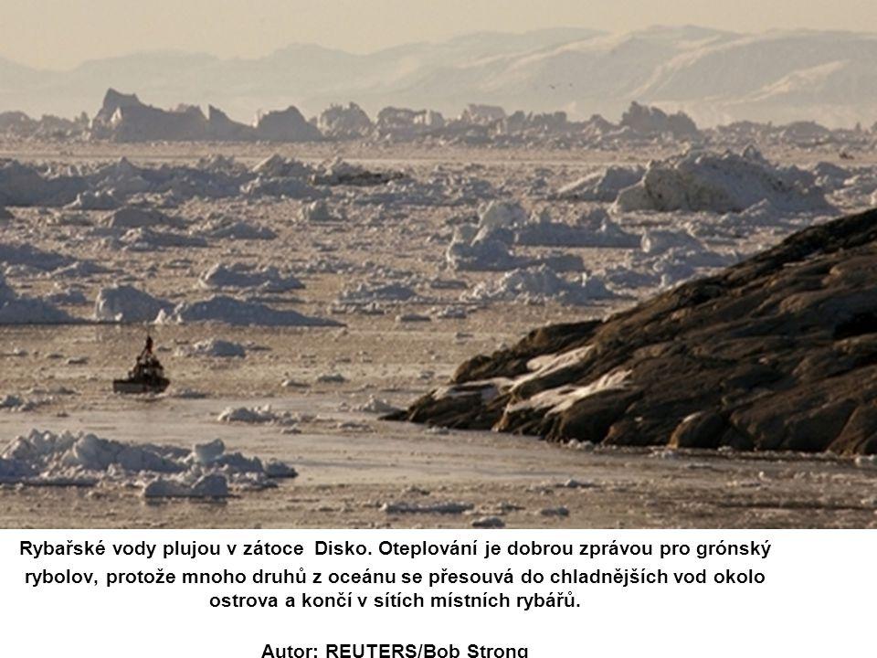 Rybařské vody plujou v zátoce Disko