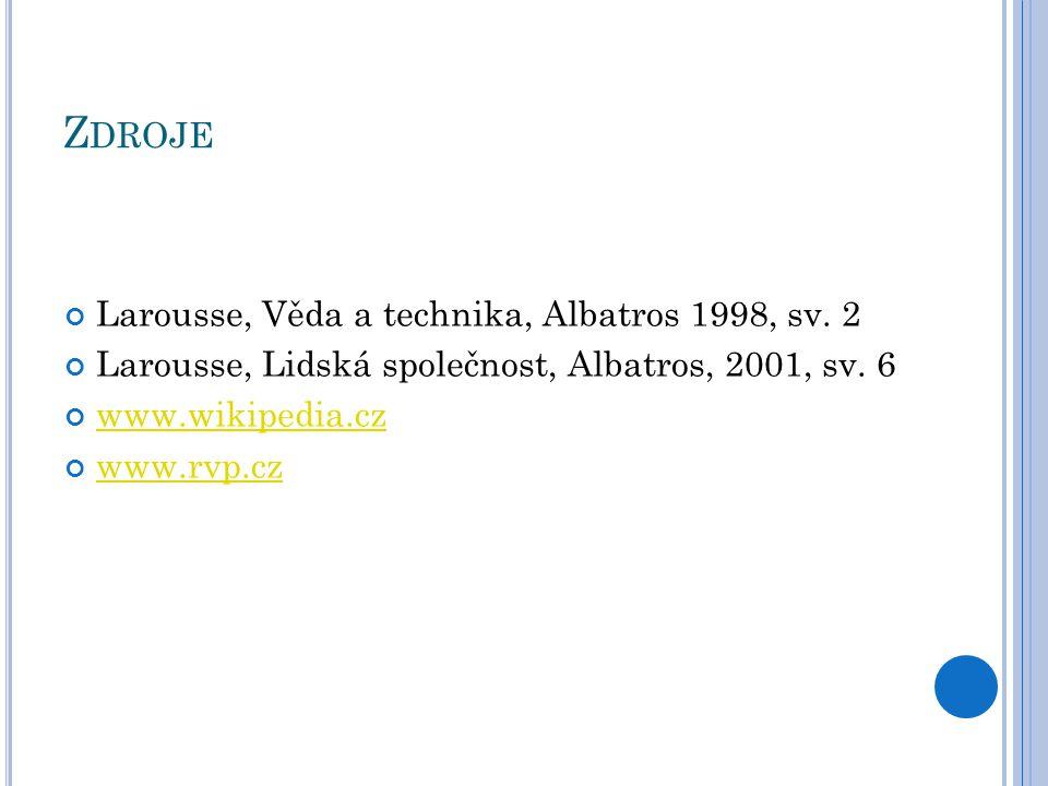 Zdroje Larousse, Věda a technika, Albatros 1998, sv. 2