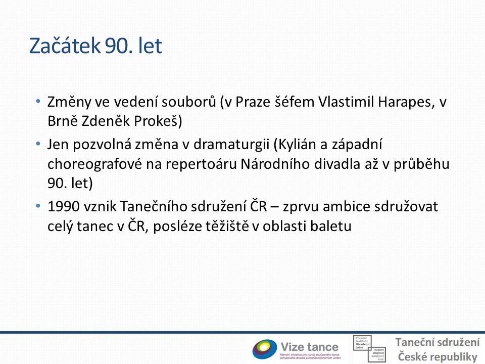 Začátek 90. let Změny ve vedení souborů (v Praze šéfem Vlastimil Harapes, v Brně Zdeněk Prokeš)