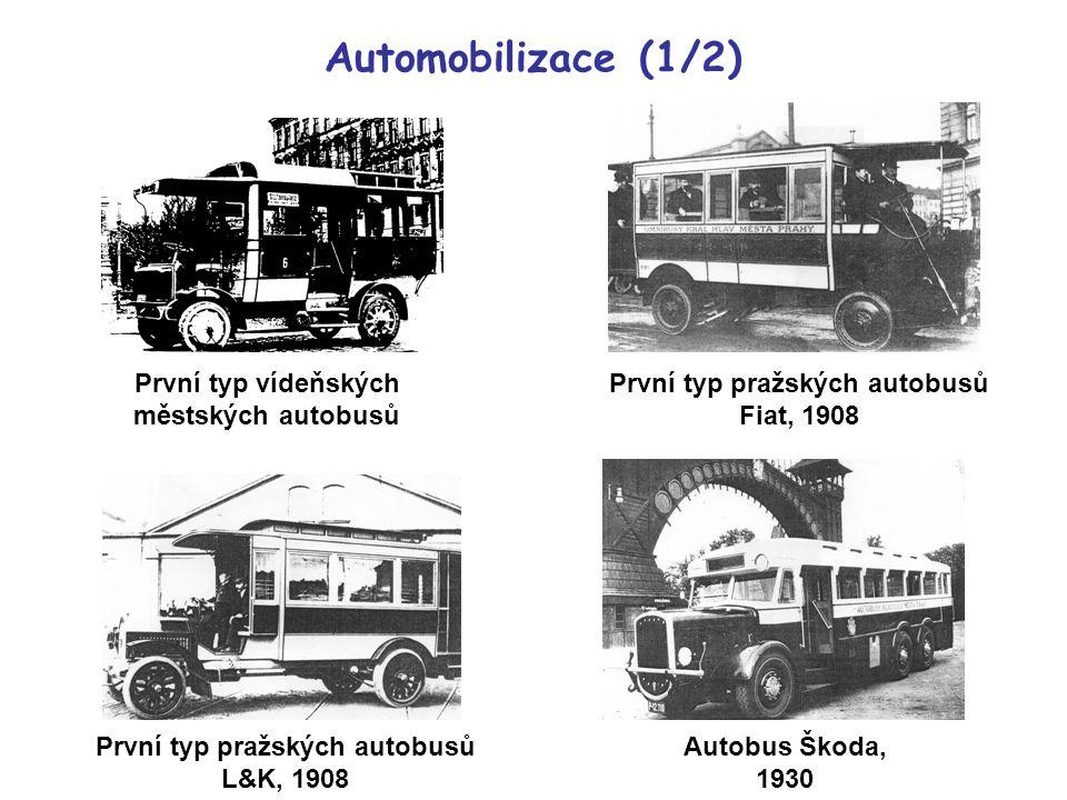 Automobilizace (1/2) První typ vídeňských městských autobusů