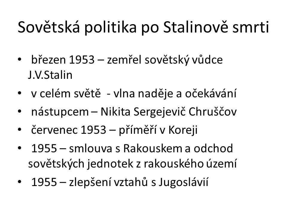 Sovětská politika po Stalinově smrti