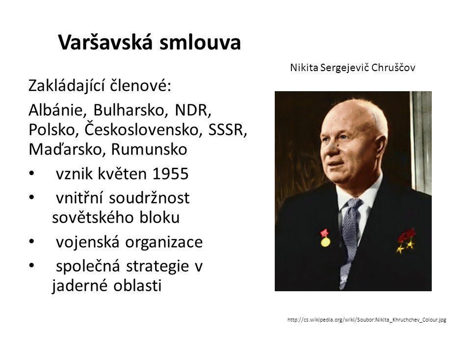 Varšavská smlouva Zakládající členové: