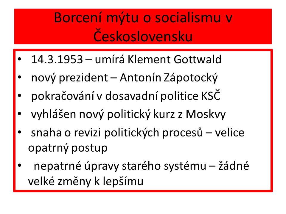 Borcení mýtu o socialismu v Československu