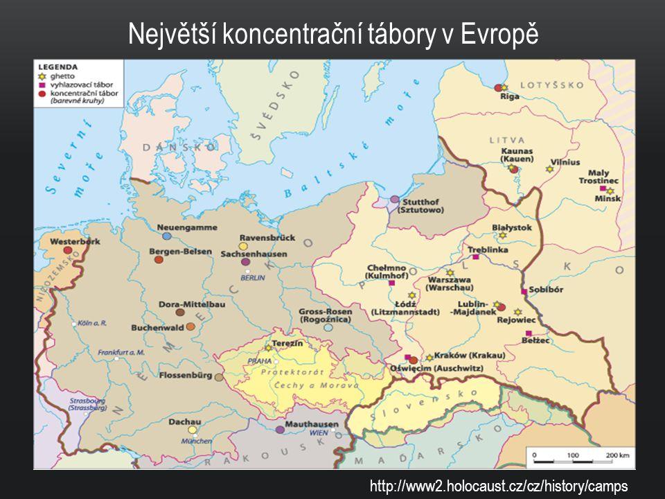 Největší koncentrační tábory v Evropě
