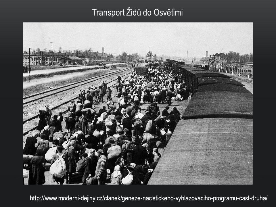 Transport Židů do Osvětimi