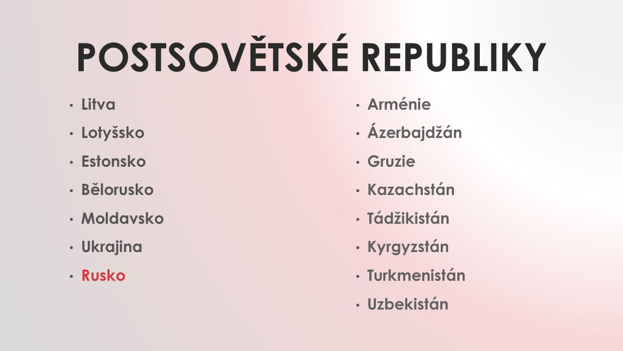 Postsovětské republiky