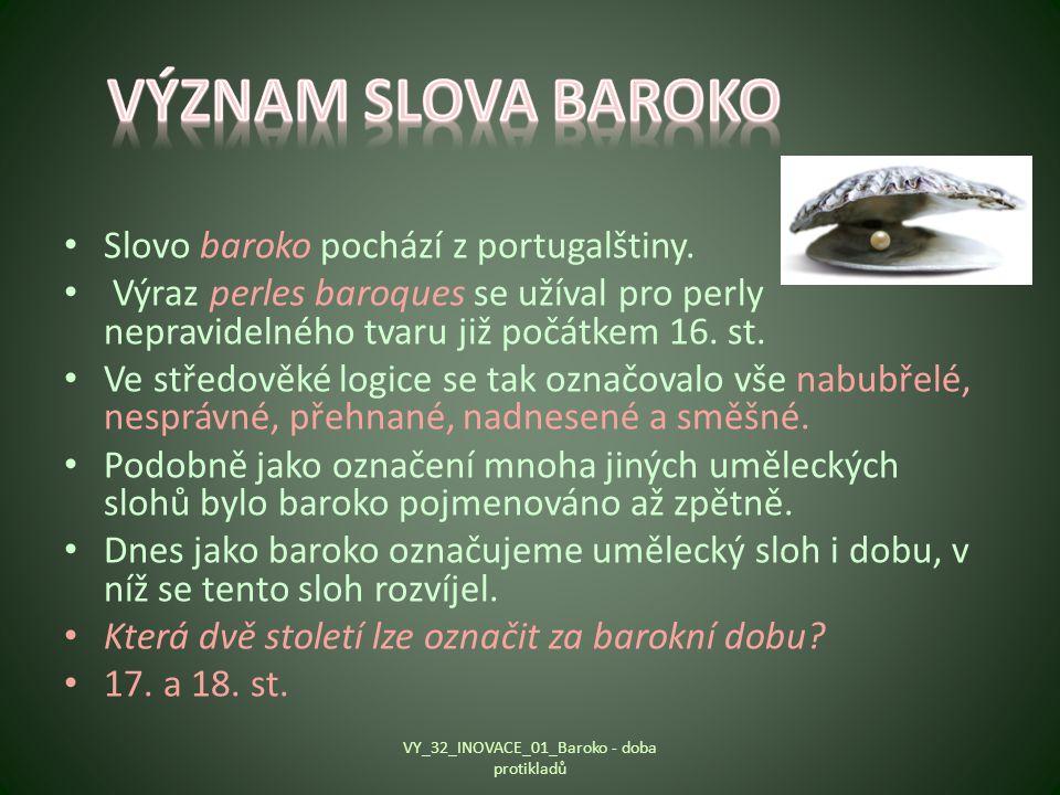 VY_32_INOVACE_01_Baroko - doba protikladů