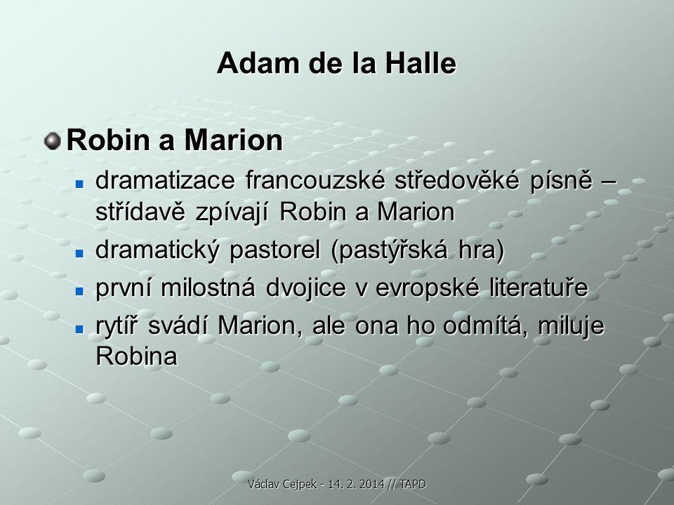 Adam de la Halle Robin a Marion