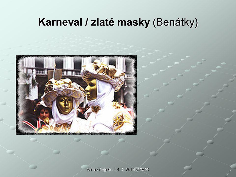 Karneval / zlaté masky (Benátky)