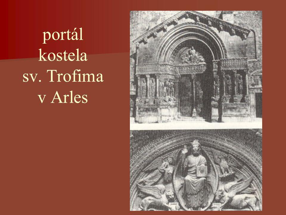 portál kostela sv. Trofima v Arles
