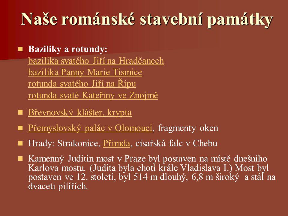 Naše románské stavební památky
