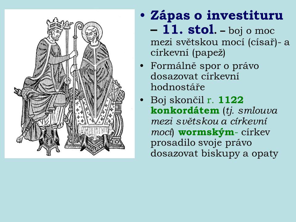 Zápas o investituru – 11. stol