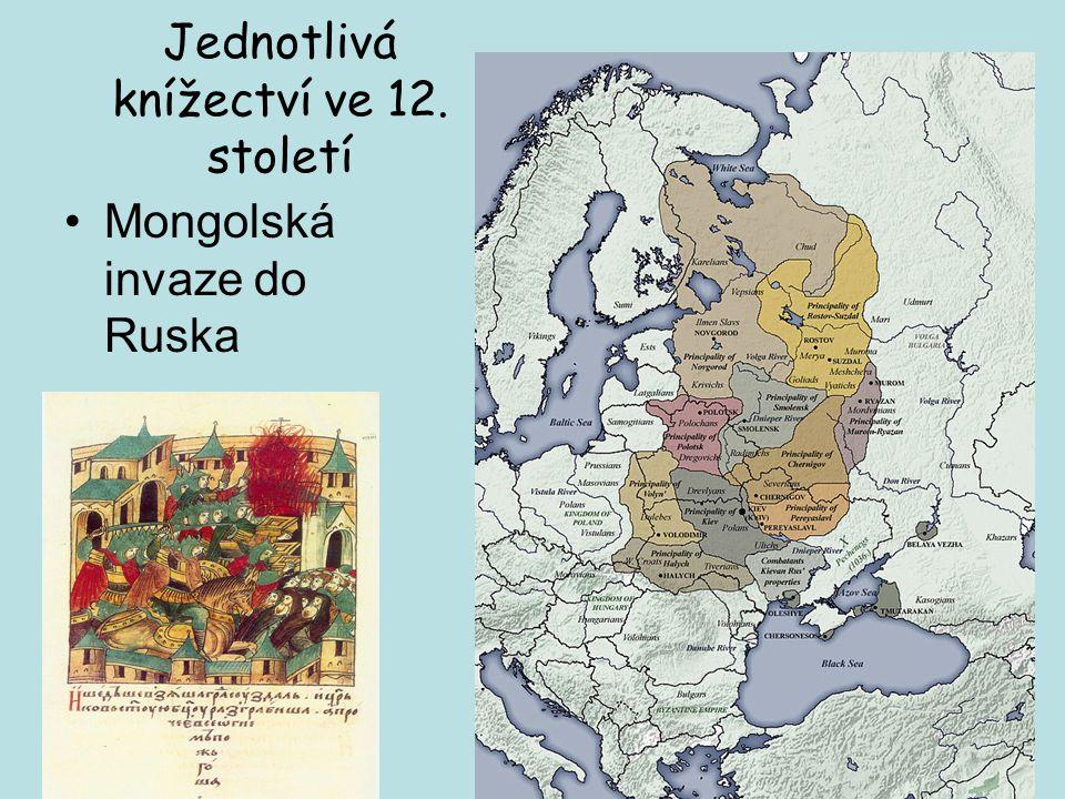 Jednotlivá knížectví ve 12. století