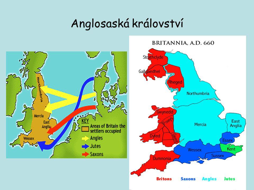 Anglosaská království