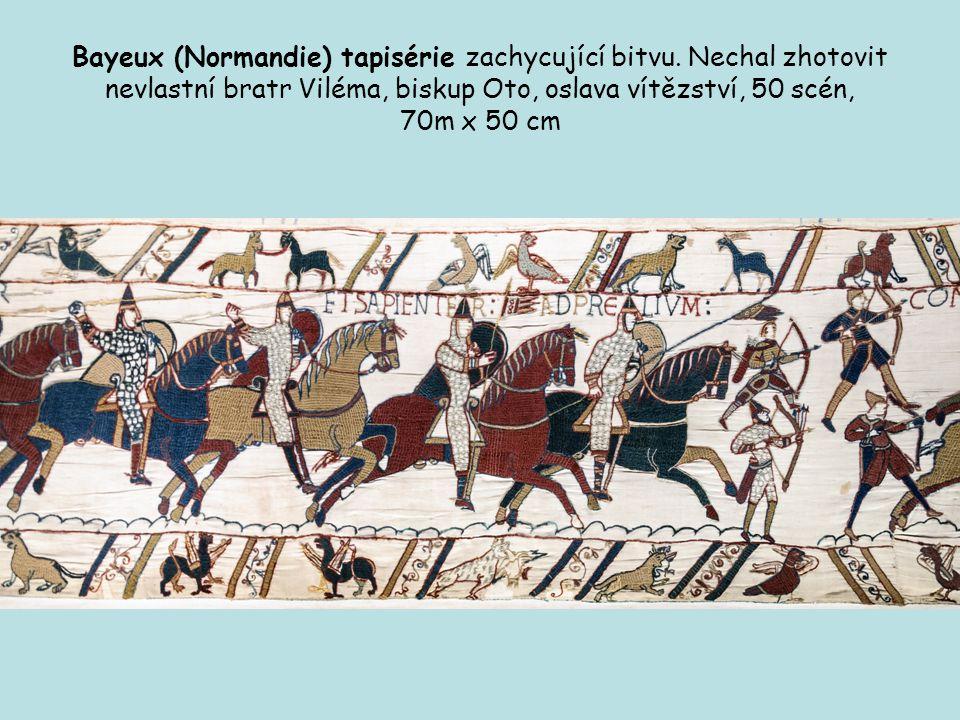 Bayeux (Normandie) tapisérie zachycující bitvu