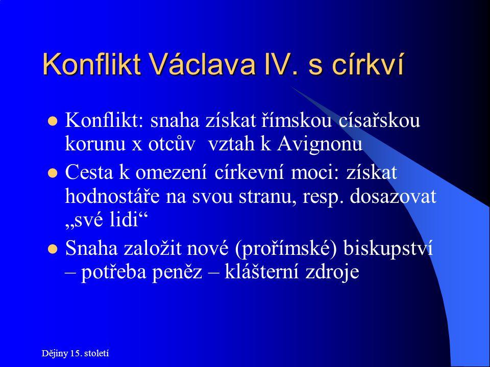 Konflikt Václava IV. s církví