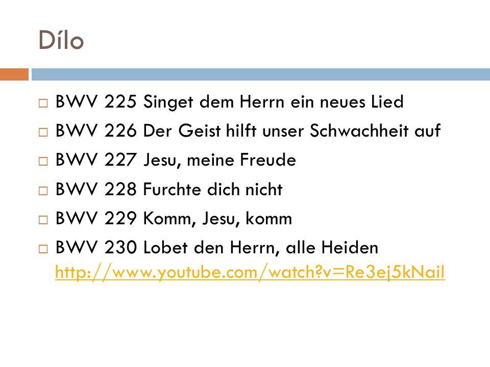 Dílo BWV 225 Singet dem Herrn ein neues Lied