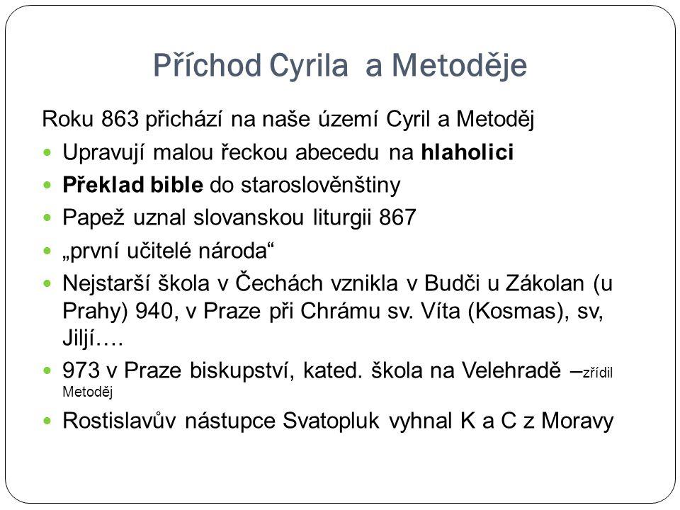 Příchod Cyrila a Metoděje