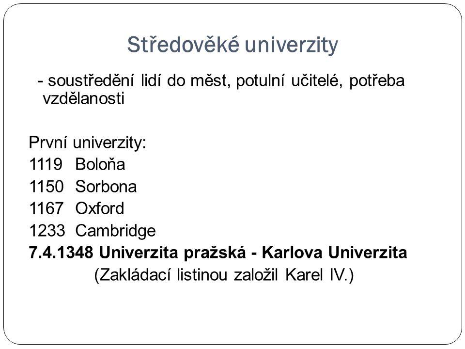 Středověké univerzity