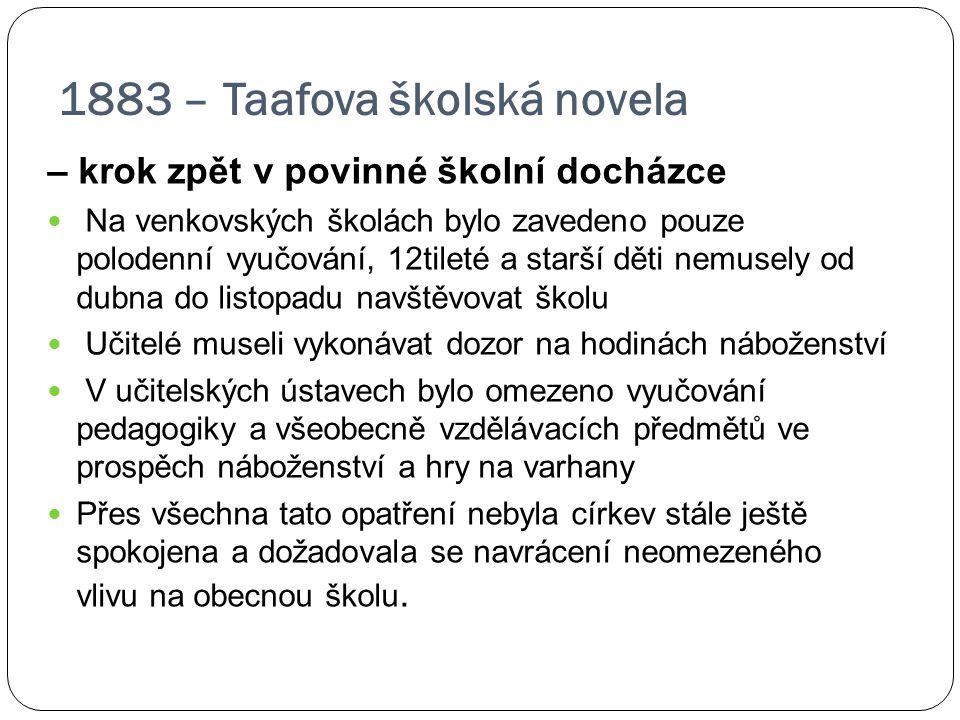 1883 – Taafova školská novela