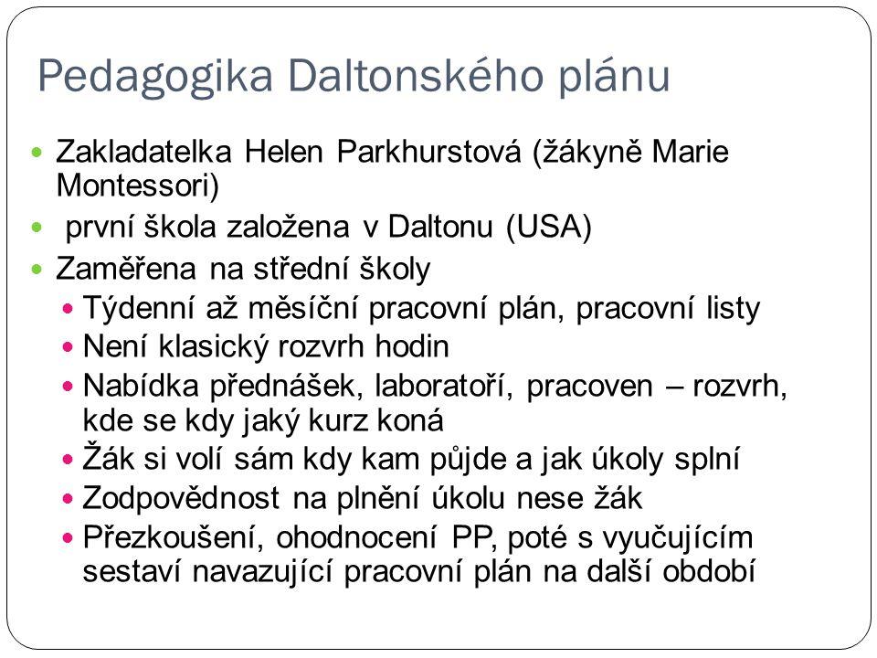 Pedagogika Daltonského plánu