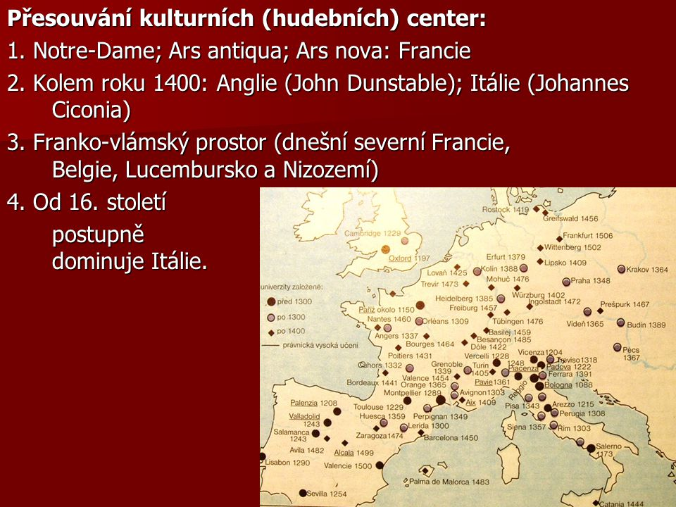 Přesouvání kulturních (hudebních) center: