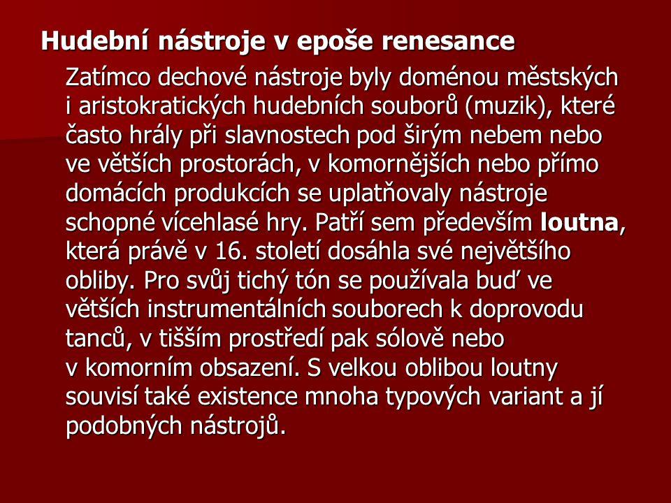 Hudební nástroje v epoše renesance