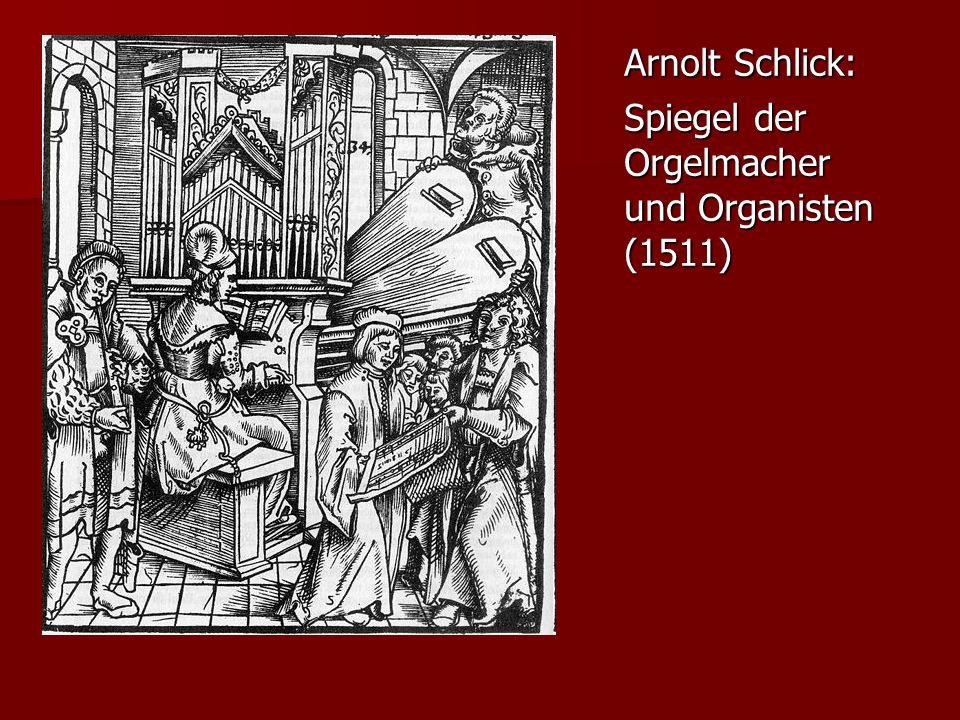 Arnolt Schlick: Spiegel der Orgelmacher und Organisten (1511)