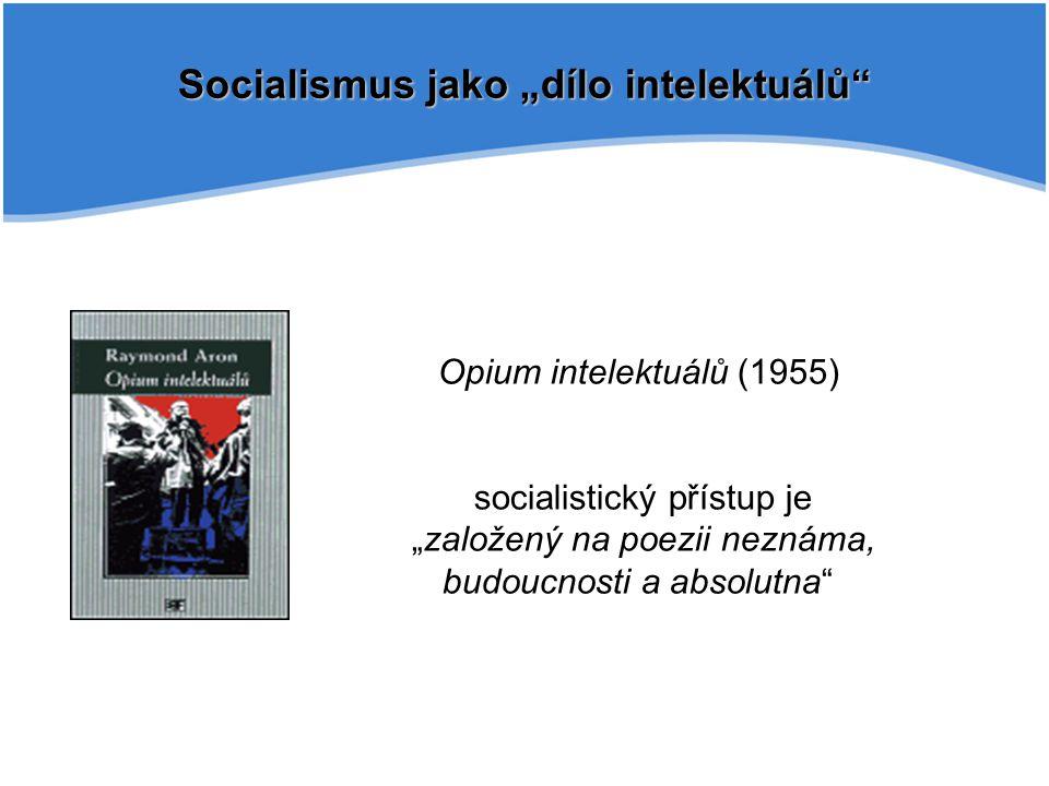 """Socialismus jako """"dílo intelektuálů"""