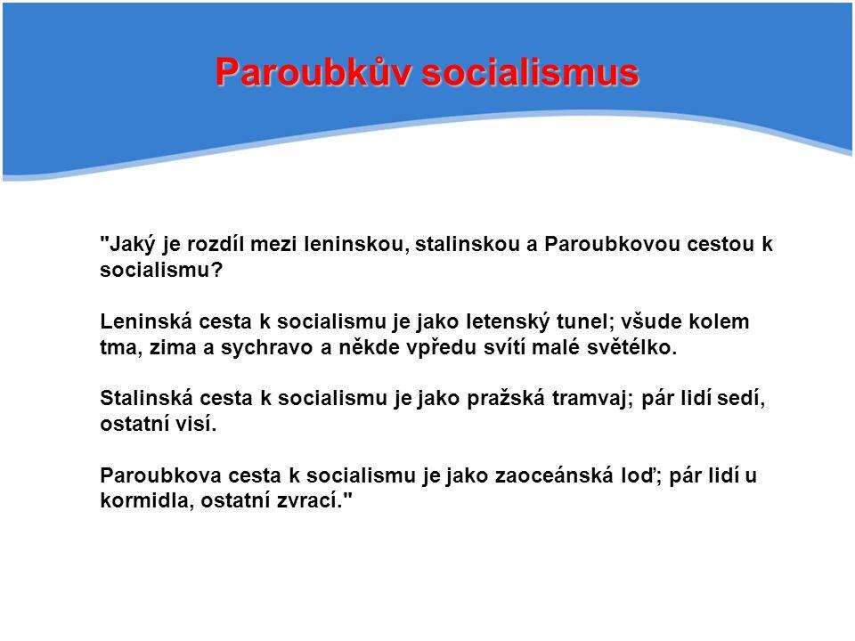 Paroubkův socialismus