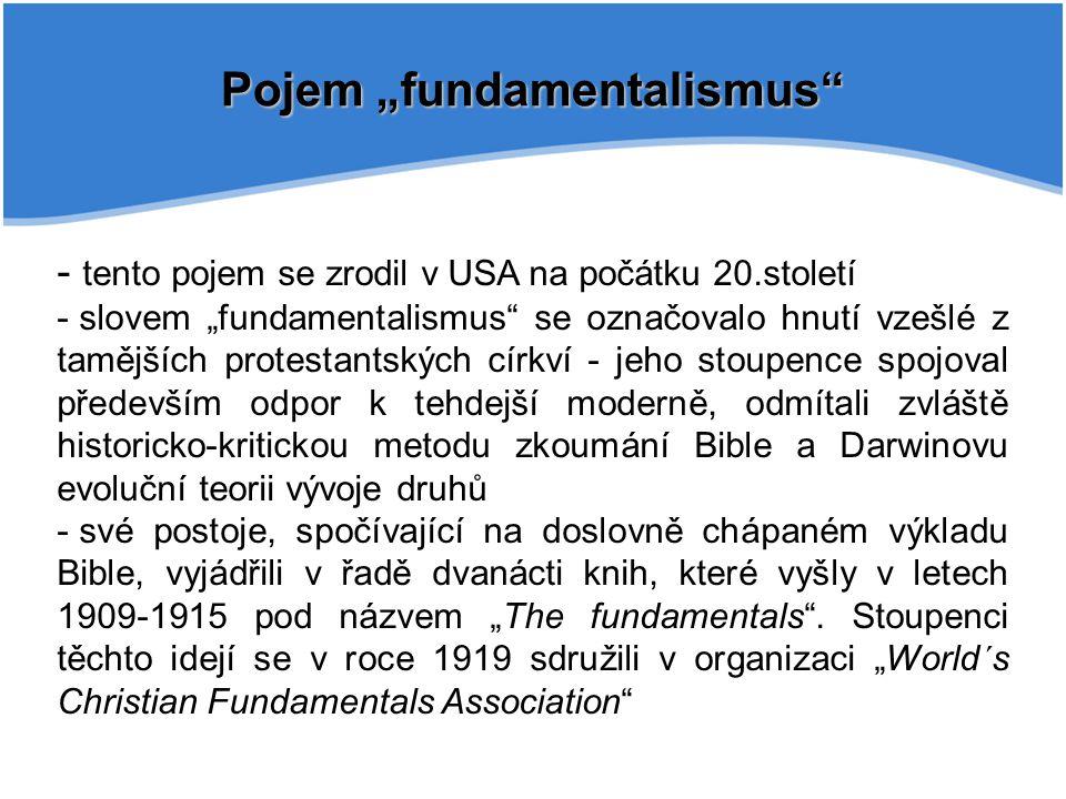 "Pojem ""fundamentalismus"