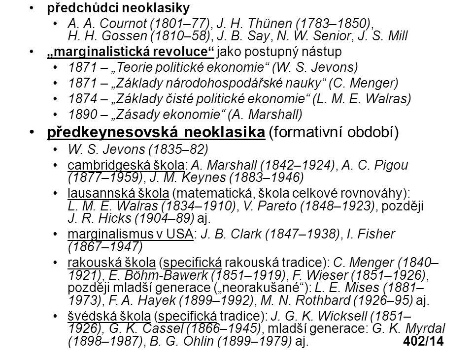 předkeynesovská neoklasika (formativní období)