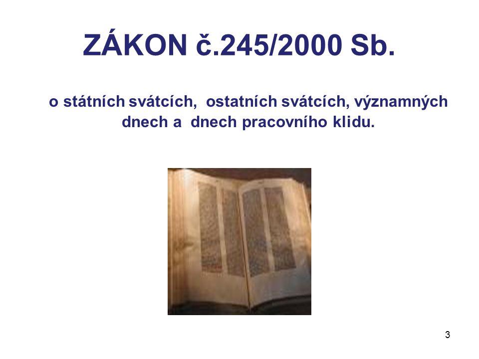 ZÁKON č.245/2000 Sb.