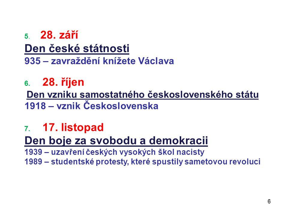 Den boje za svobodu a demokracii