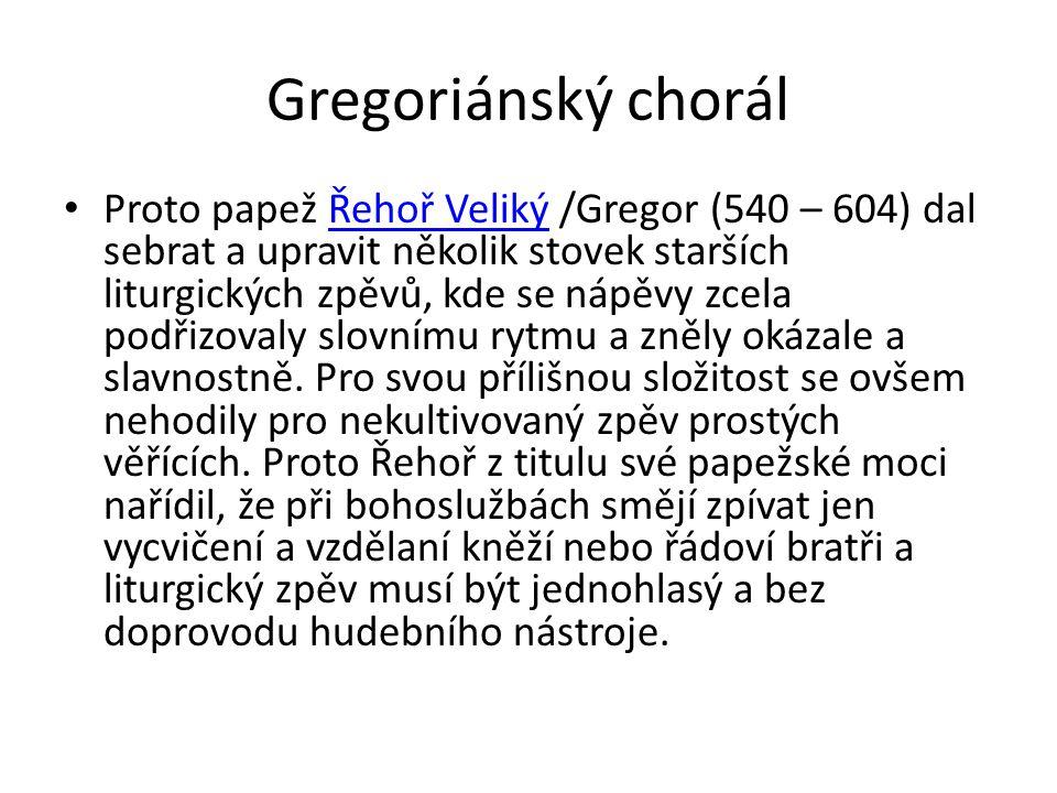 Gregoriánský chorál