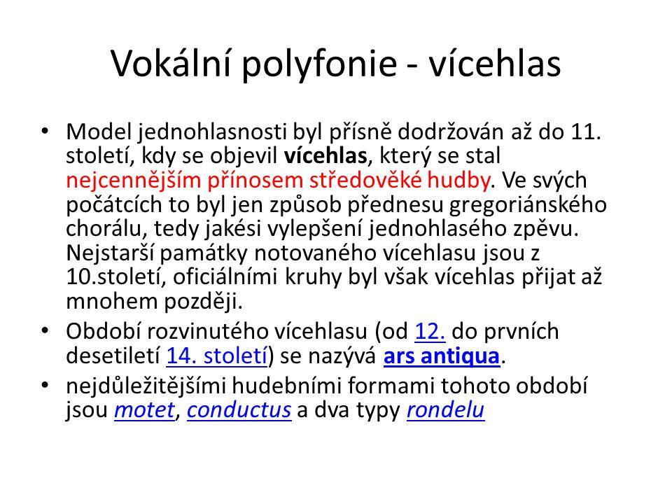 Vokální polyfonie - vícehlas