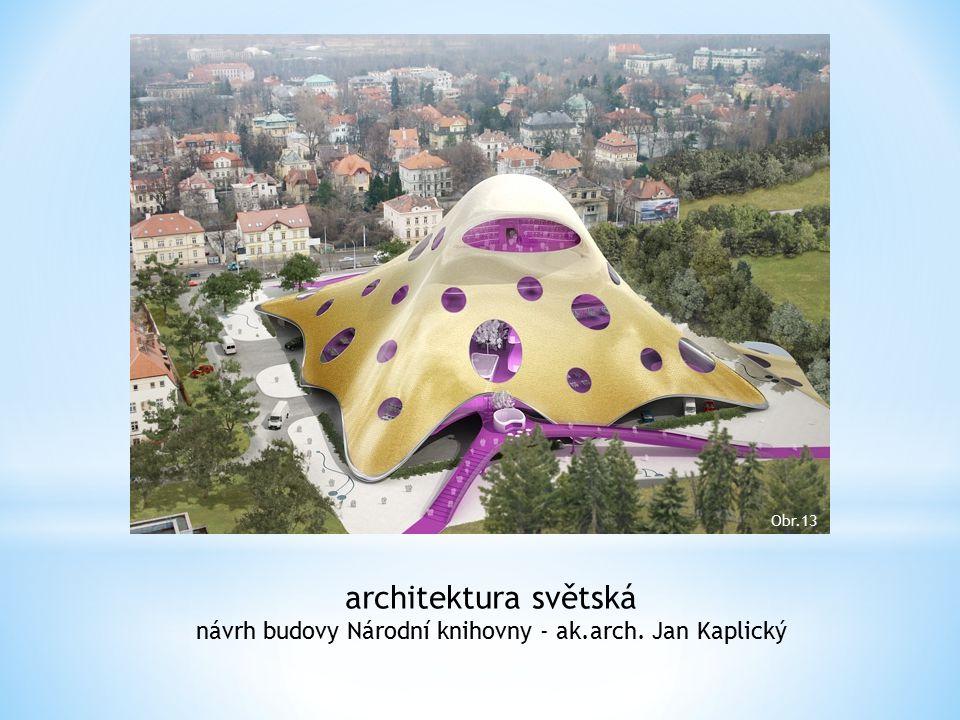 návrh budovy Národní knihovny - ak.arch. Jan Kaplický