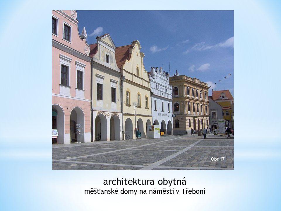 měšťanské domy na náměstí v Třeboni