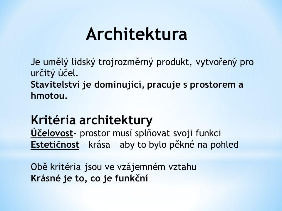 Architektura Kritéria architektury