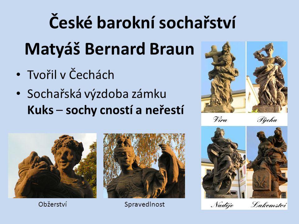 České barokní sochařství Matyáš Bernard Braun