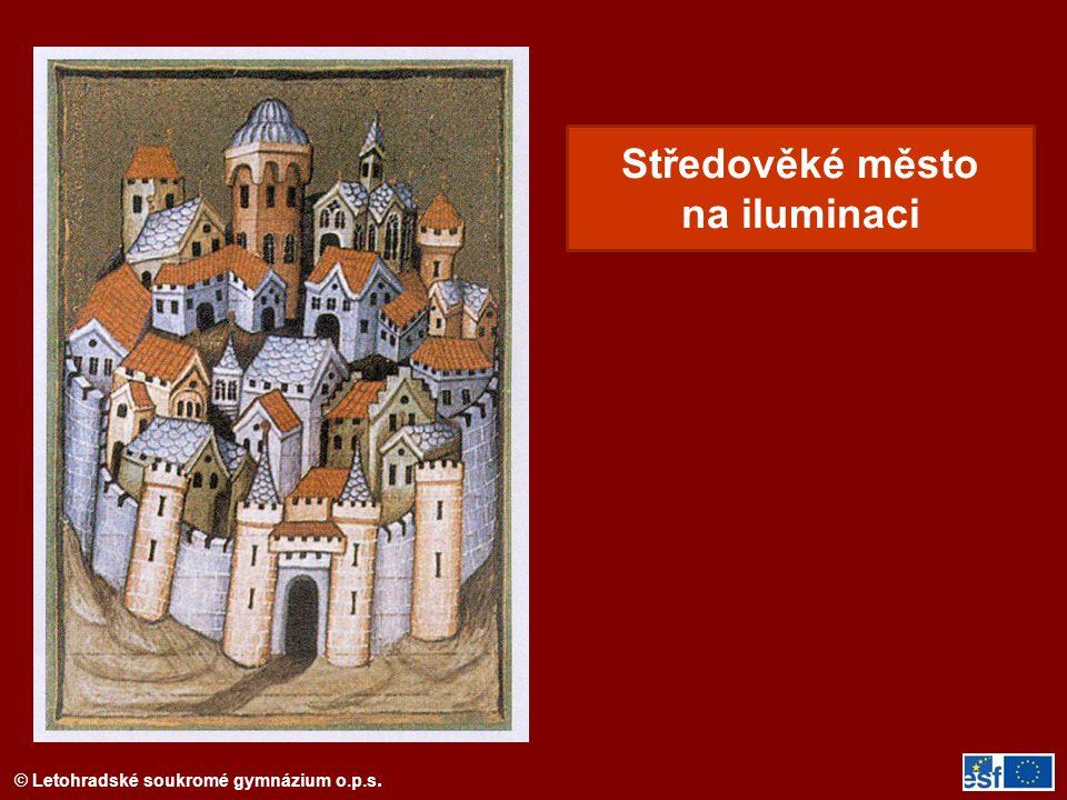 Středověké město na iluminaci