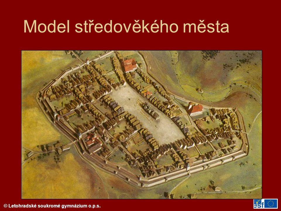 Model středověkého města