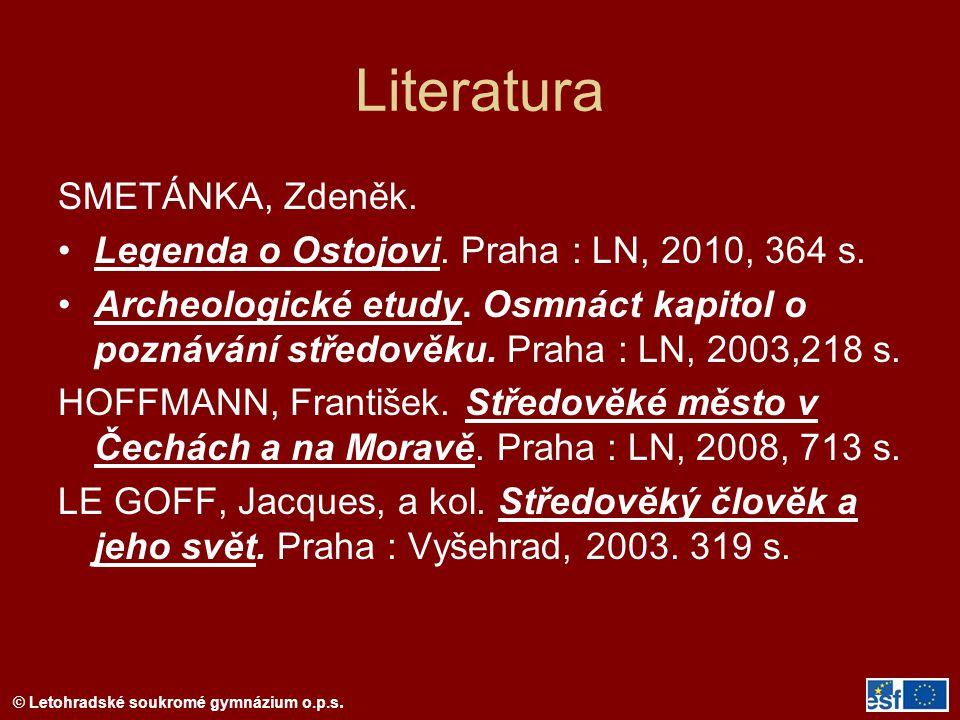 Literatura SMETÁNKA, Zdeněk.