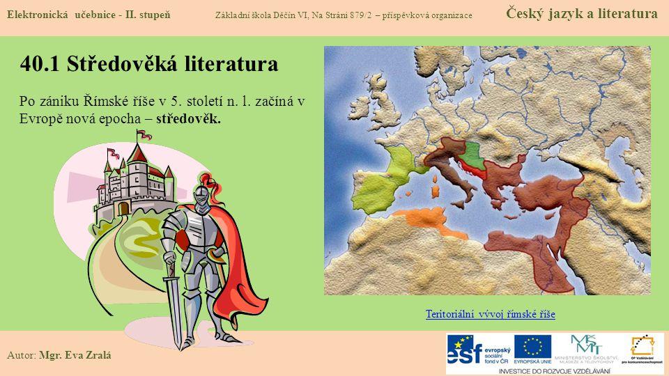 40.1 Středověká literatura