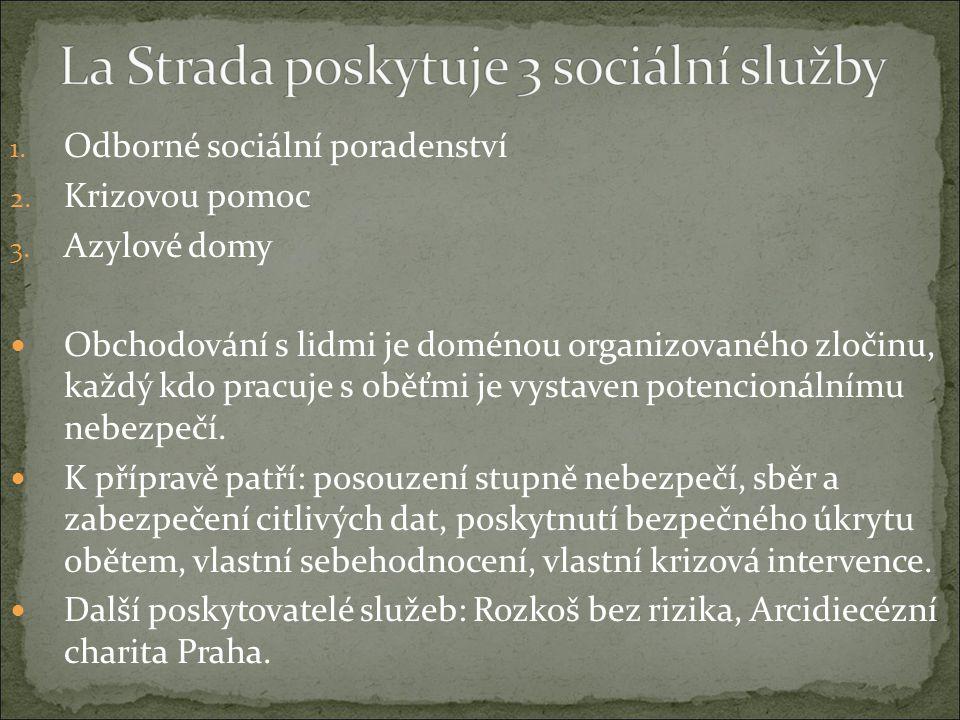 La Strada poskytuje 3 sociální služby