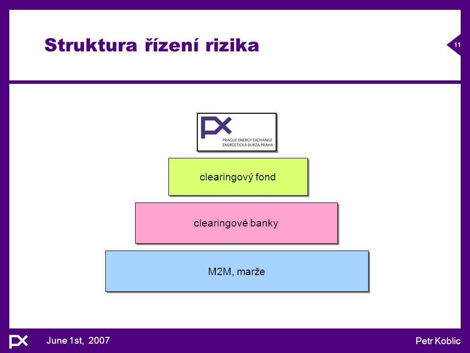 Struktura řízení rizika