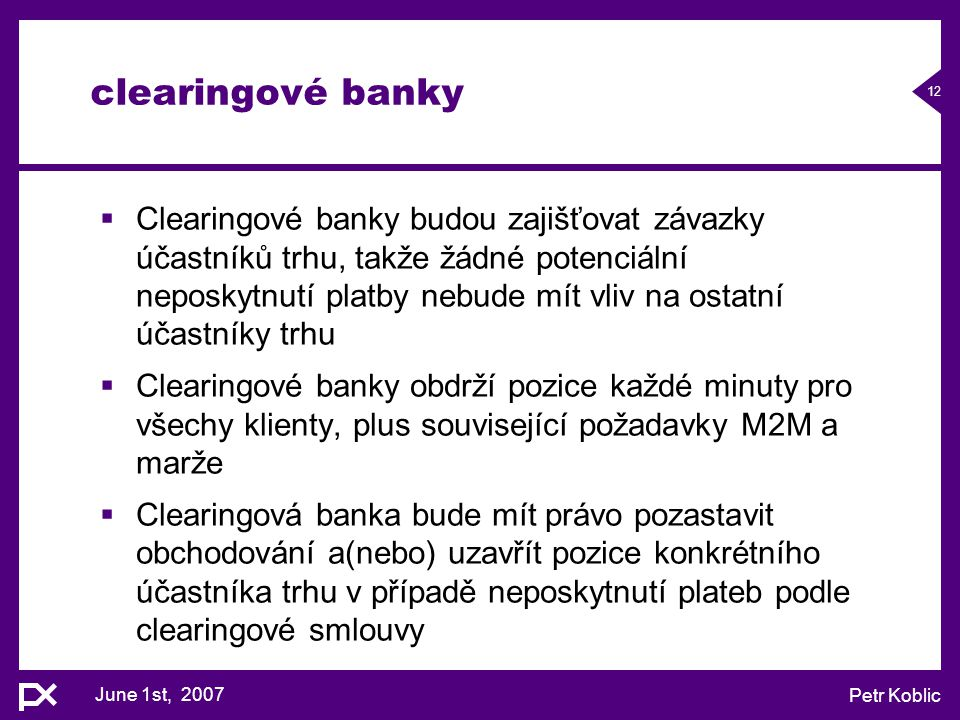 clearingové banky