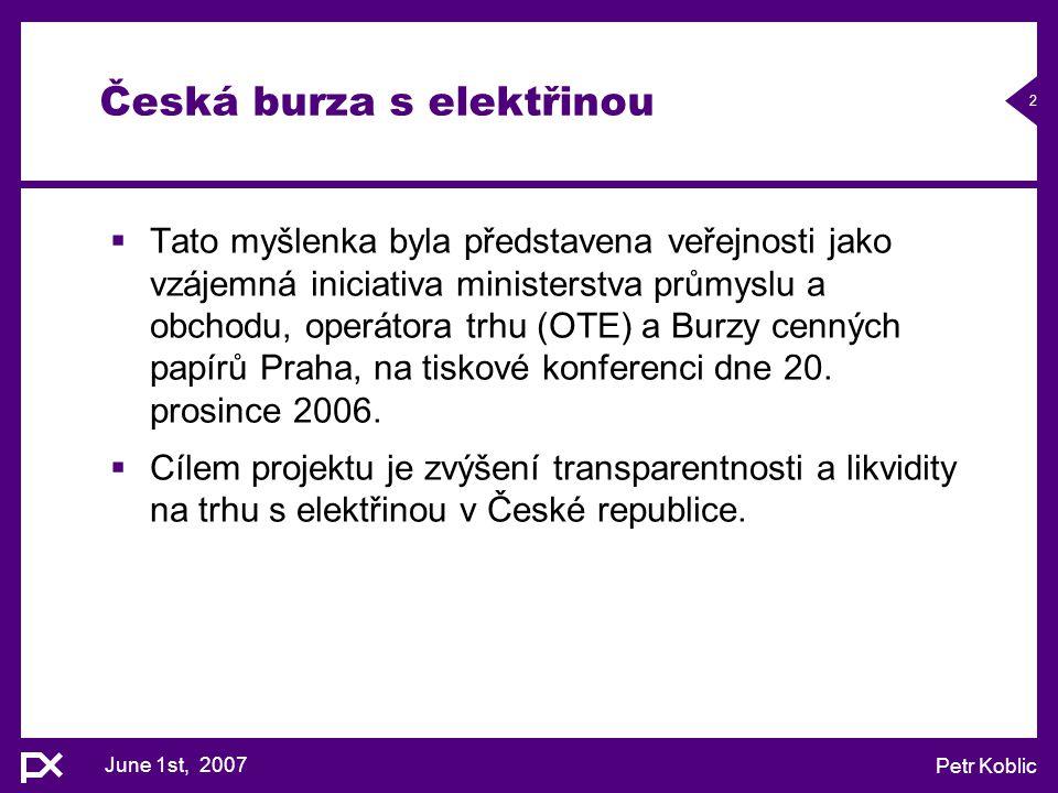 Česká burza s elektřinou